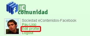 El plugin crea un usuario en el blog con los datos de FB. El usuario puede editar esto.