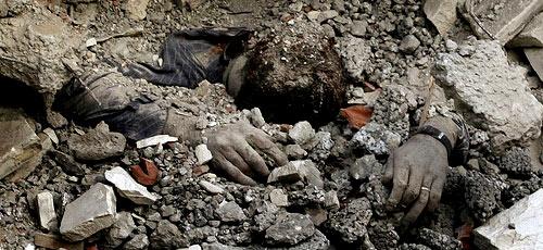 Este palestino murió el día de los inocentes por un misil israelí.