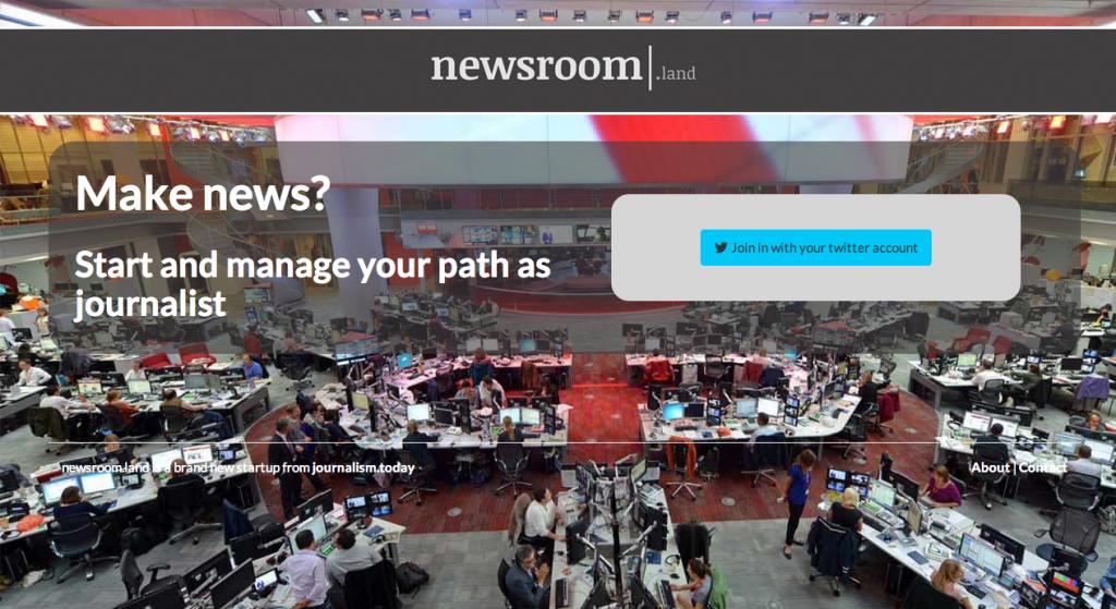 Home de Newsroom.land, lo que se ve es todo lo que hay